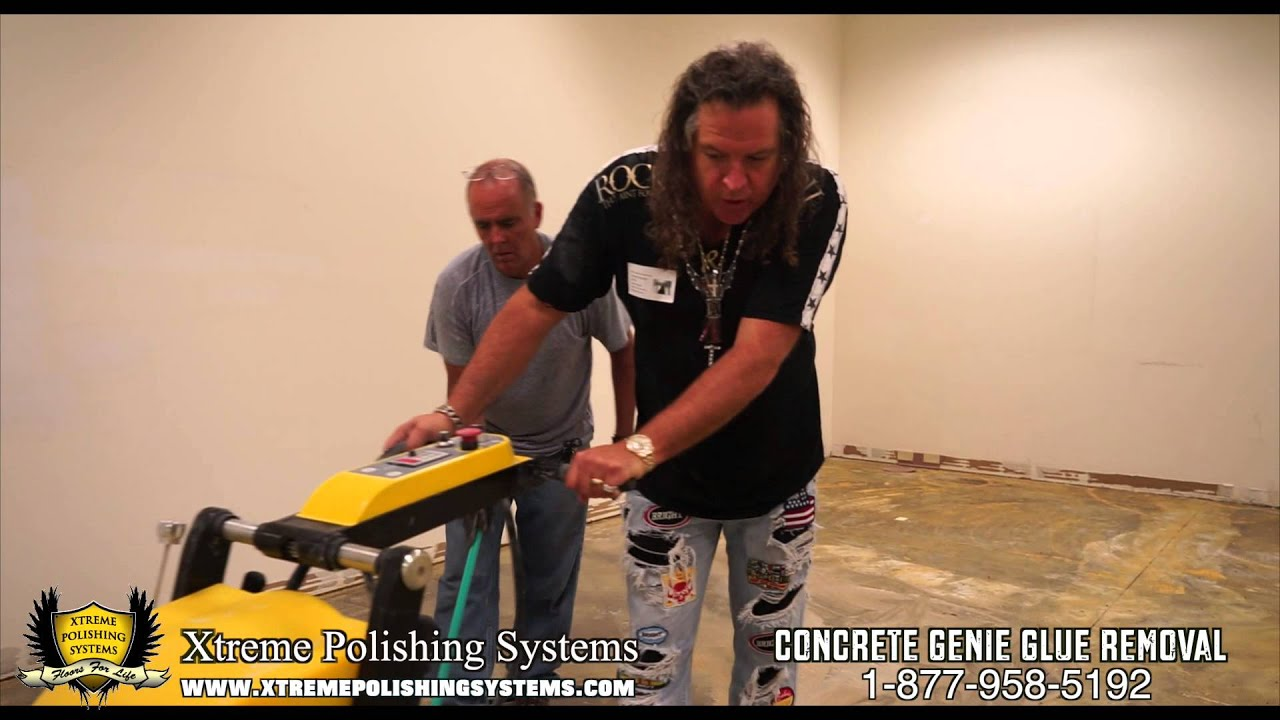 HOW TO Mastic Removal Thinset Removal Glue Removal on Concrete