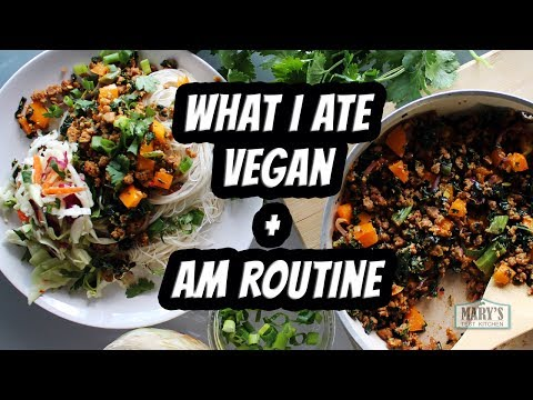 WHAT I ATE IN A DAY VEGAN #73 + AM Routine | Mary's Test Kitchen