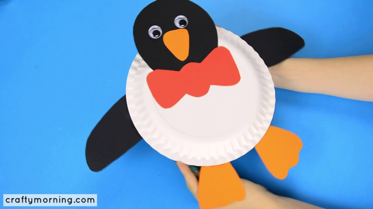 Paper Plate Penguin Craft : paper plate penguin template - pezcame.com