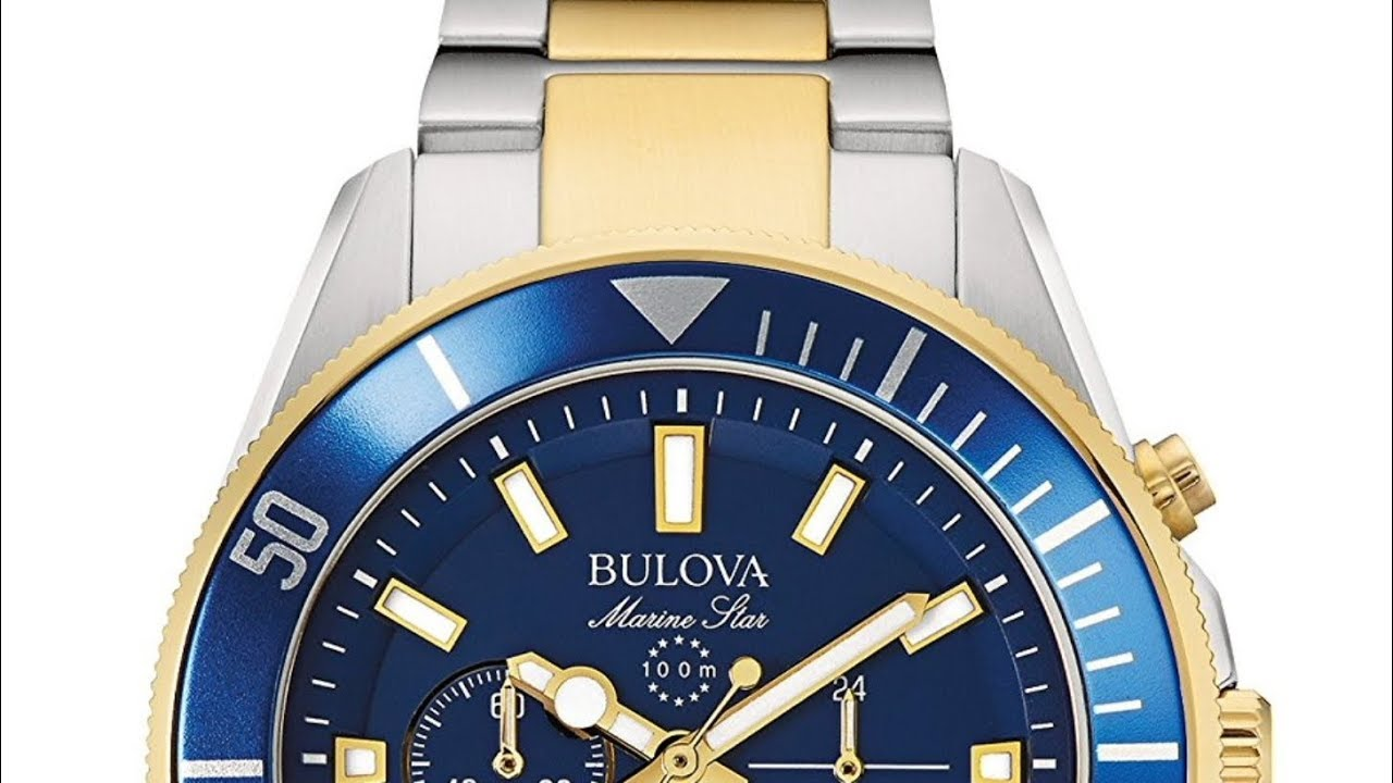 1d97107a01a9 Bulova Marine Star 98B230 - YouTube