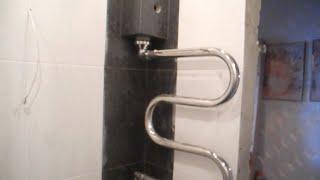 Короб для полотенцесушителя ч.4(В этом ролике заключительная часть по коробу для полотенцесушителя в ванной комнате,показано как облицева..., 2015-01-08T18:02:17.000Z)