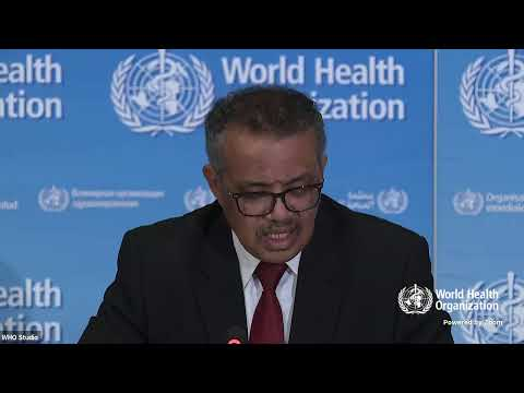 Live from WHO Headquarters - COVID-19 daily press briefing 20 March 2020