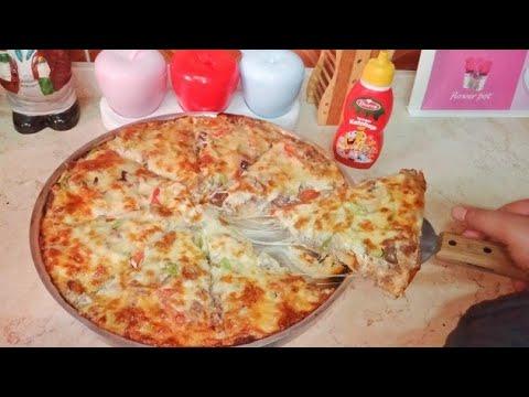 صورة  طريقة عمل البيتزا طريقه عمل بيتزا المطاعم بعجينه هشه ولزيزه زي البيتزا  الايطالي طريقة عمل البيتزا من يوتيوب