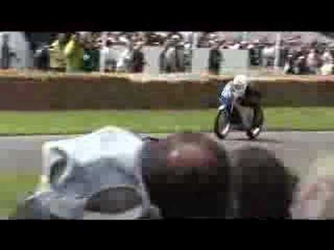 Goodwood Festival of Speed 2007: Mad Bob McMad on Joey Dunlop's Honda RC-45