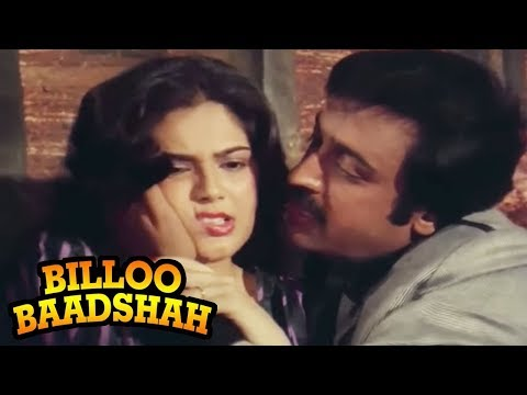 Gulshan Grover tries to attack a girl - Billoo Badshah Action Scene