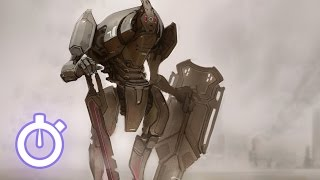 Speedpaint - Paint a Giant Mech in Photoshop using a single layer