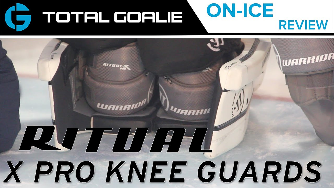 a6e0efba8cc Warrior Ritual X Pro Goalie Knee Guards    On-Ice Review - YouTube
