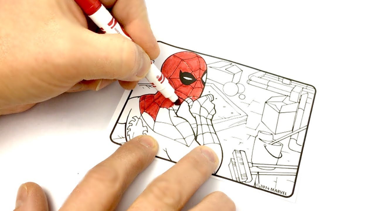 Spiderman Coloring Crayola Mini Coloring Pages Marvel Ultimate ...