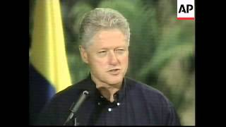 COLOMBIA: US PRESIDENT CLINTON VISIT (2)
