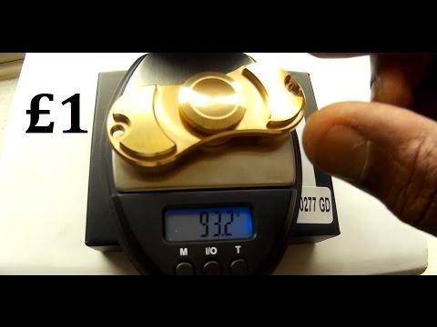 Worlds Heaviest 93 Grams £1 Solid Brass Torqbar Bar Fidget spinner Clone Amazon China