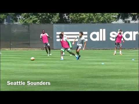 Panama U20 Seattle Sounders  Player  Benito Martinez Striker  US College Soccer Video 2018