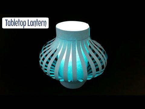 Easy Tabletop Lantern for Diwali / Christmas / Eid Decoration - DIY Tutorial by Paper Folds 🏮