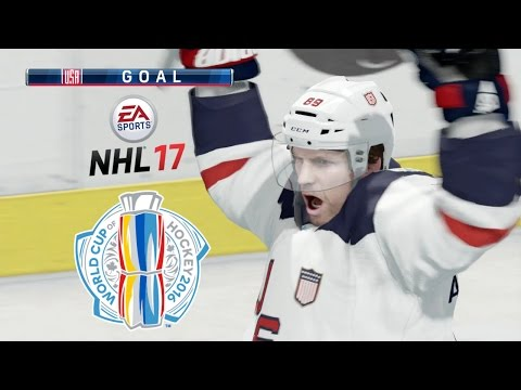 NHL 17 (Xbox One) World Cup Of Hockey - USA Vs Europe (Full Game)