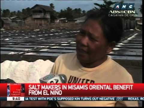 Salt makers in Misamis Oriental benefit from El Niño