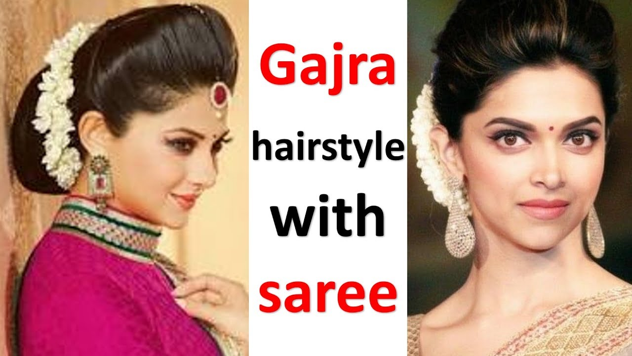 Easy Gajra Hairstyle With Saree Juda Hairstyle With Puff Simple Hairstyle Wedding Hairstyle Youtube