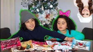 KISS CANDY CHALLENGE w/ My Sister! ROSANNA PANSINO Hershey Holiday Challenge