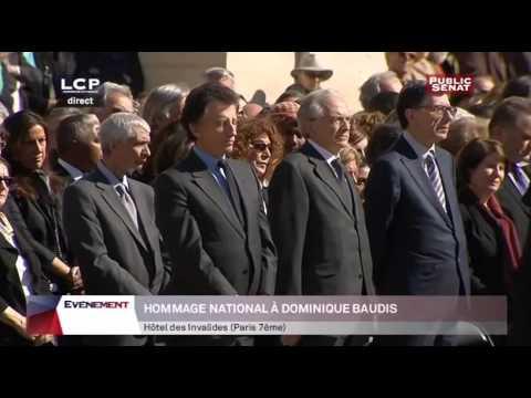 Cérémonie d'obsèques aux Invalides de Dominique Baudis