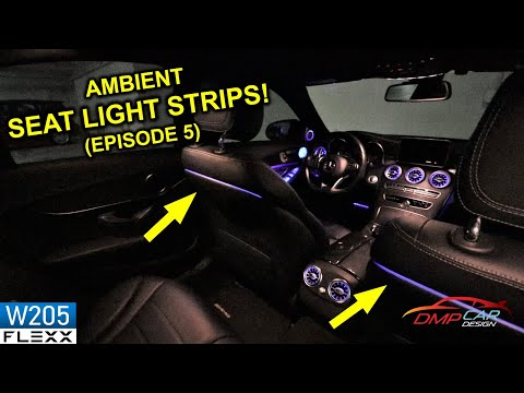 AMBIENT LED SEAT LIGHT STRIPS | How to install on 2015+ Mercedes W205 C-Class