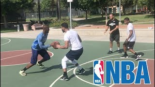 ME AND DDG BEAT NBA SUPERSTAR JAMAL CRAWFORD IN A 2v2 BASKETBALL GAME!! | The Aqua Family