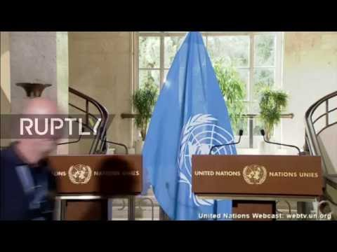 LIVE: Staffan De Mistura and Jan Egeland give update on humanitarian situation in Syria