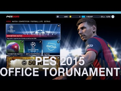 PES 2015 gameplay (Digital Spy office tournament)