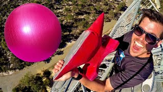 ANVIL Vs. EXERCISE BALL (FULL OF WATER) 45m Drop Test!