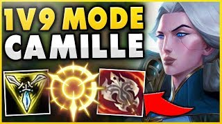 THIS CAMILLE TOP BUILD HAS NO COUNTER! *UNLIMITED POWER* S9 CAMILLE TOP GAMEPLAY - League of Legends