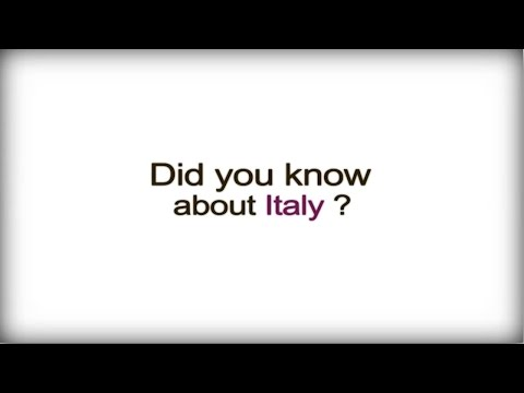 Did you know? - Italy - Italian Business Culture video