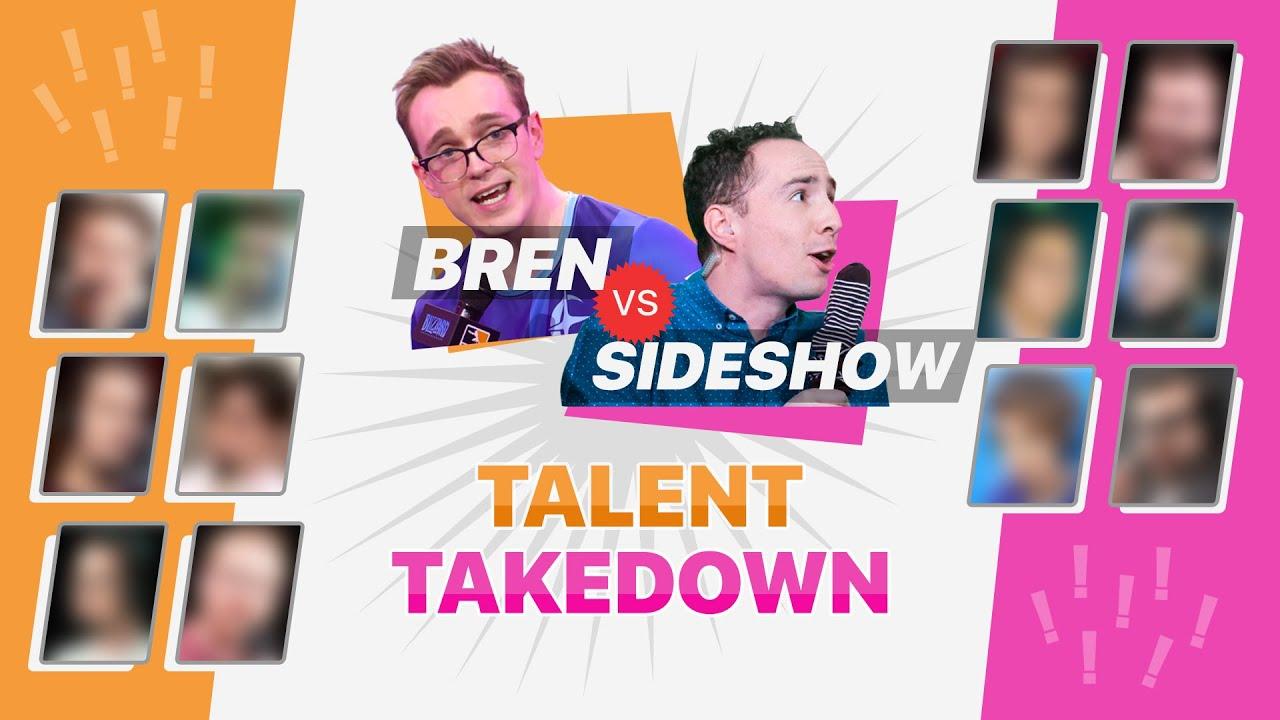 BREN vs SIDESHOW! T-Mobile 2021 Talent Takedown Draft!
