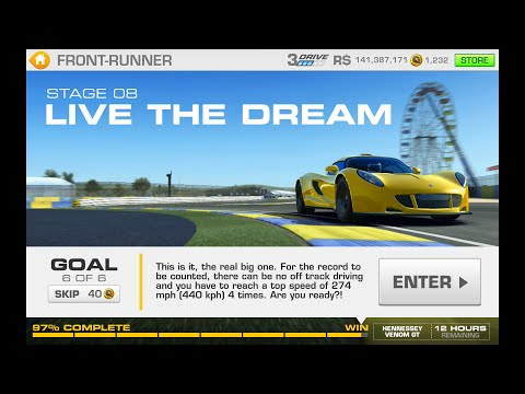 Real Racing 3 Front Runner Stage 8 Goal 6 Hennessey Venom GT