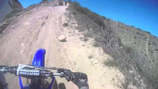 YZ250 dirt bike crash.. but I land on my feet :D