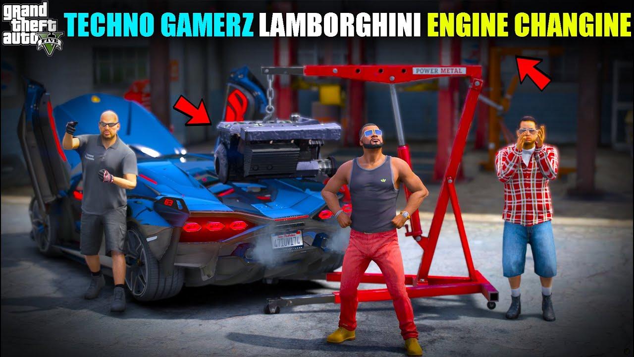 GTA 5 : CHANGING LTECHNO GAMERZ LAMBORGHINI SIAN ENGINE OMG!