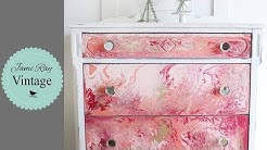How To Paint Pour On Furniture | Dresser Paint Pour