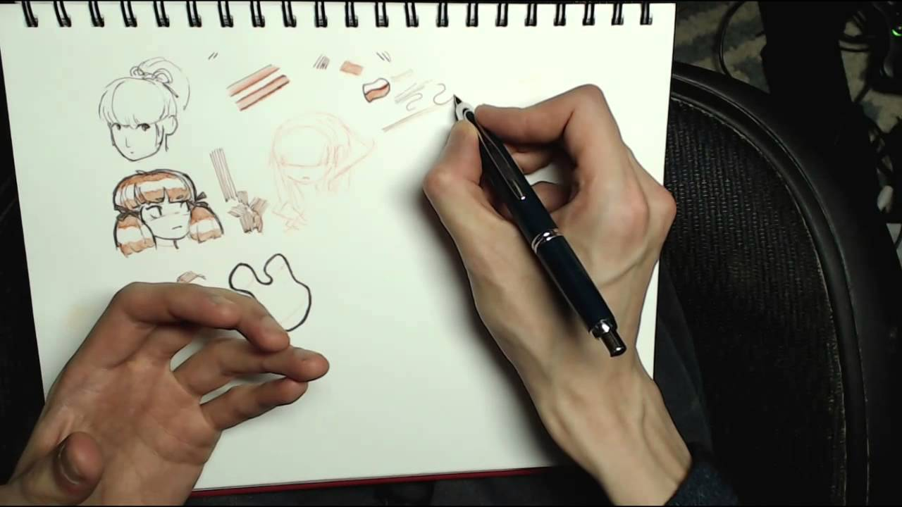 Drawing Lines With The Pen Tool : Traditional drawing tools ballpoint and fountain pens youtube