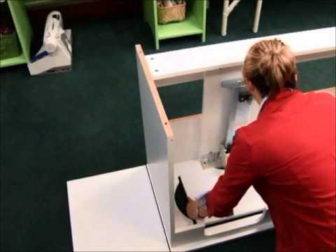 Bertha Sewing Cabinet Assembly YouTube Mesmerizing Bertha Sewing Machine Cabinet