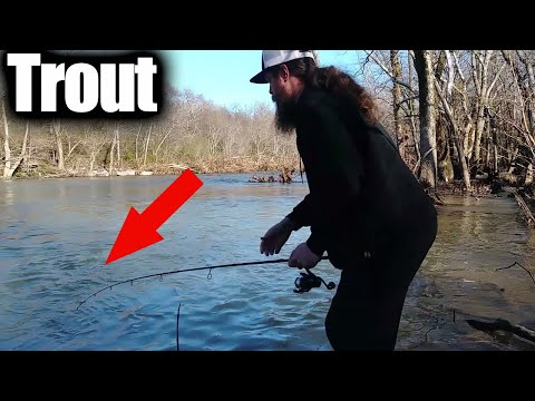 Testing PowerBait Trout Nibbles! Trout Fishing Video (Cell Phone)