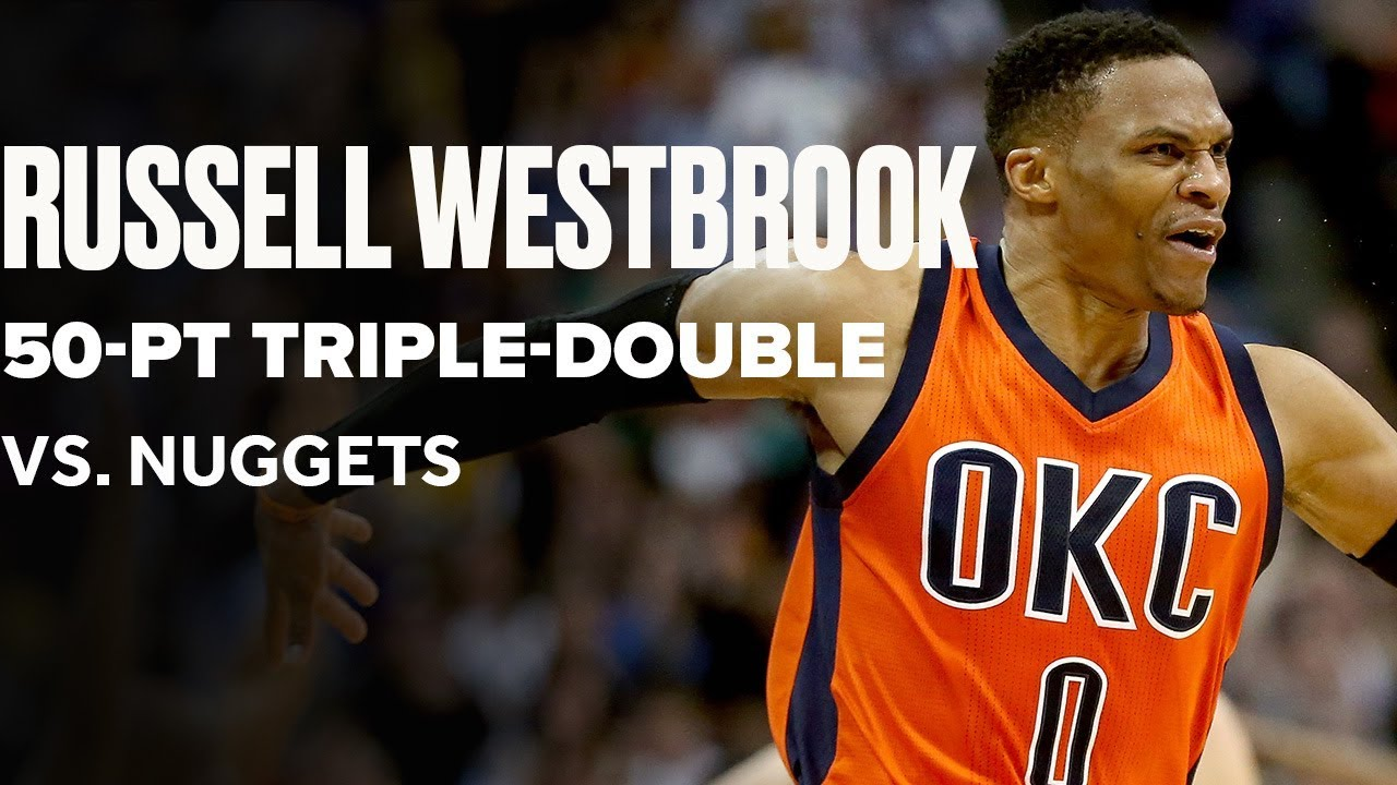 Flashback To Russell Westbrook's Iconic 50-PT Triple-Double, Game-Winner Vs. Nuggets | April 9, 2017