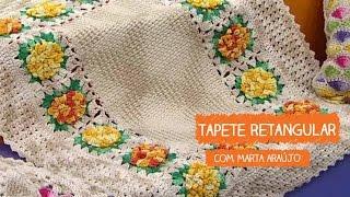 Tapete Retangular com Flores – Marta Araújo