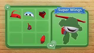 超级翅膀玩具情节。超级翅膀卡通益智游戏。益智超级翅膀