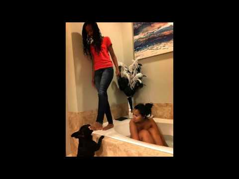 Tammy Rivera can't take a bath without the whole family & dog busting in on her! #LHHATL