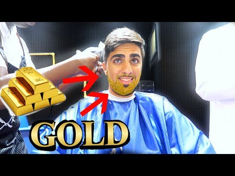 Thumbnail: 24 KARAT GOLD APPLICATION ON BEARD