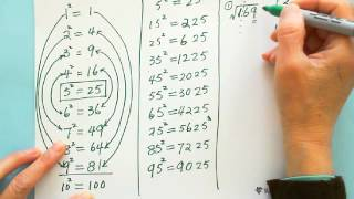 mental math find perfect square root