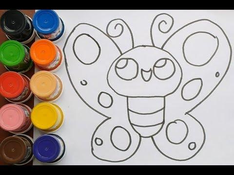 Como Dibujar Y Colorear Mariposa Kawaii Dibujos Para Ninos