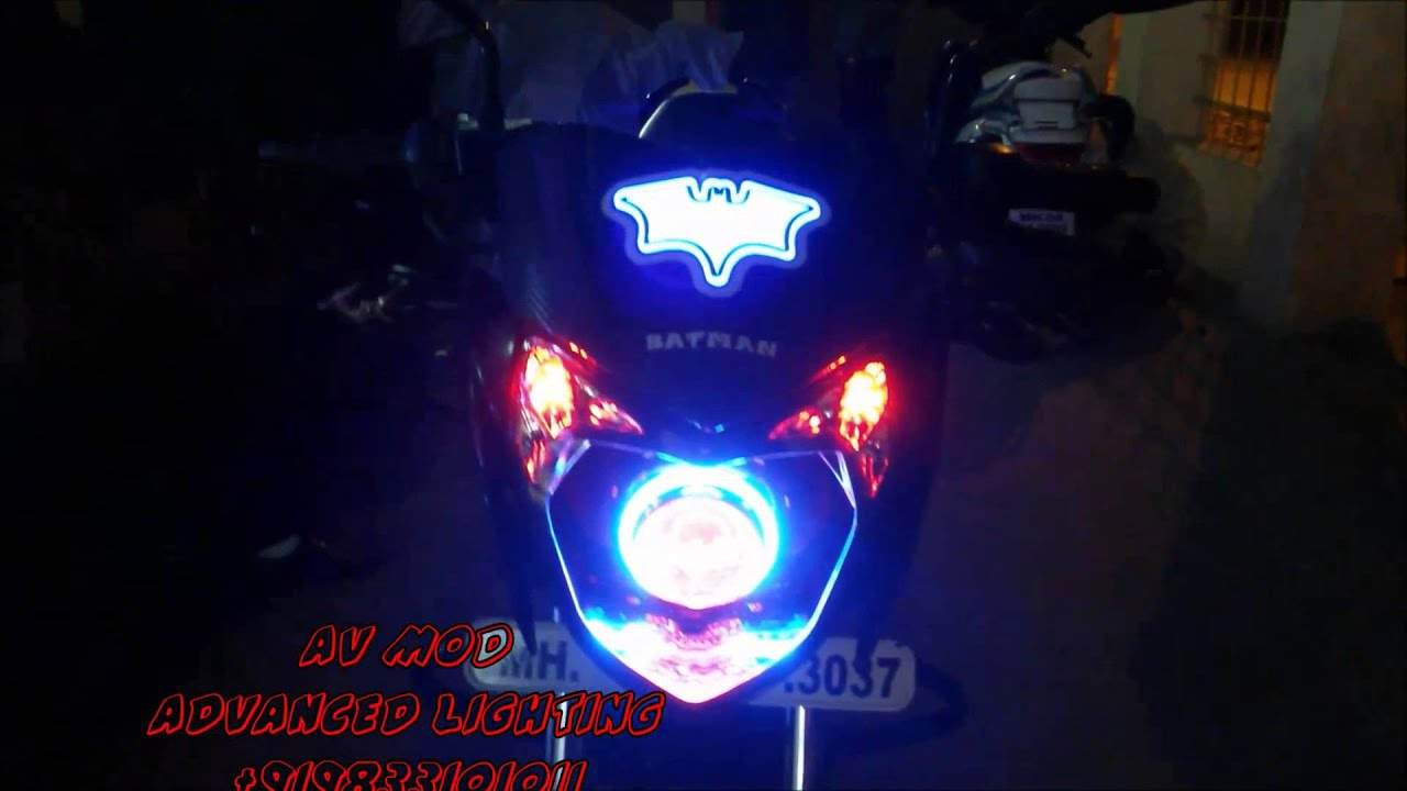 Pulsar 135 batman projector headlight megwheel light doovi