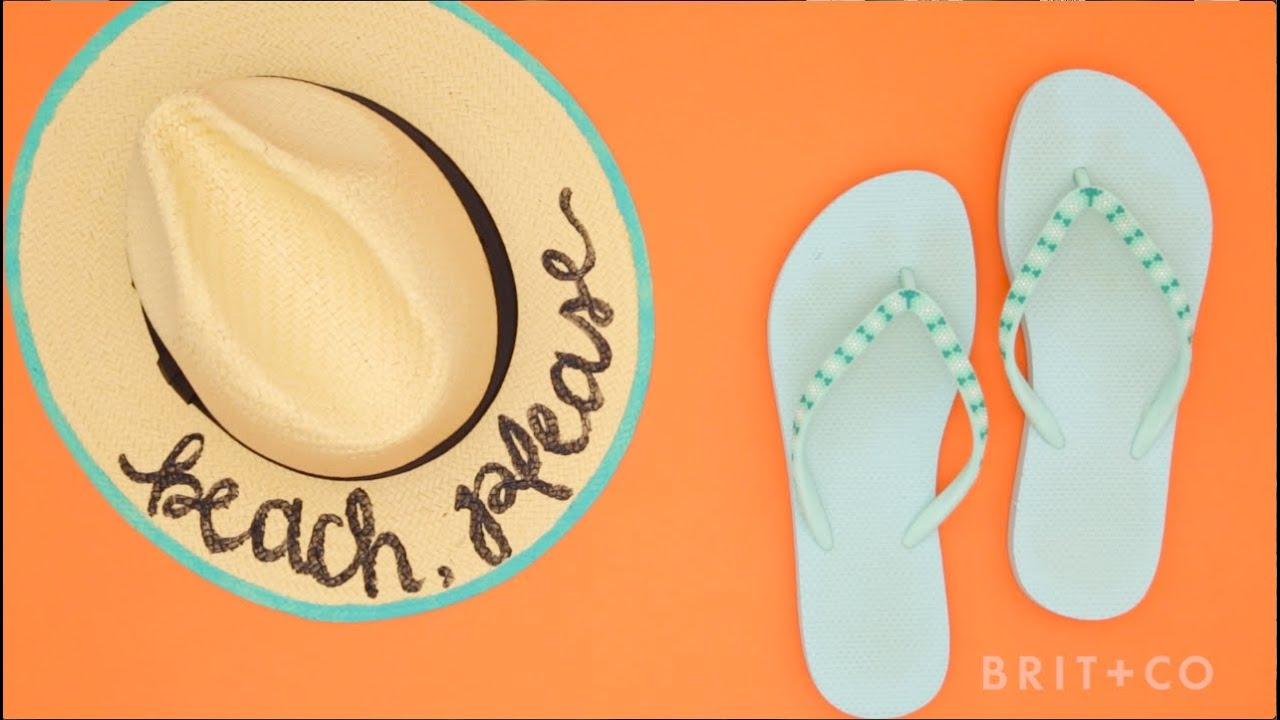 da46266b How to DIY a Painted Beach Hat - YouTube