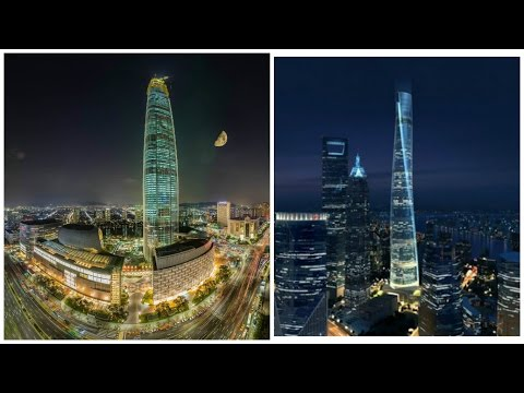 Lotte World Tower Corea VS The Shanghai Tower China