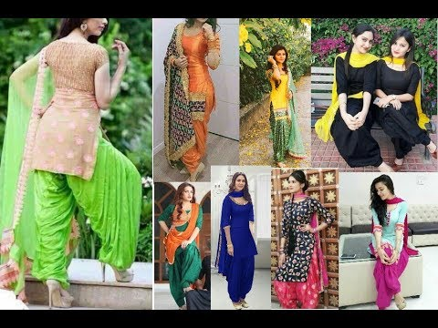 Top 10 latest patiala salwar kameez trendy design for girls/ beautiful punjabi suits fashion india