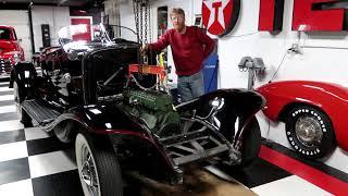 Removing an Auburn Straight 8 Flathead Engine