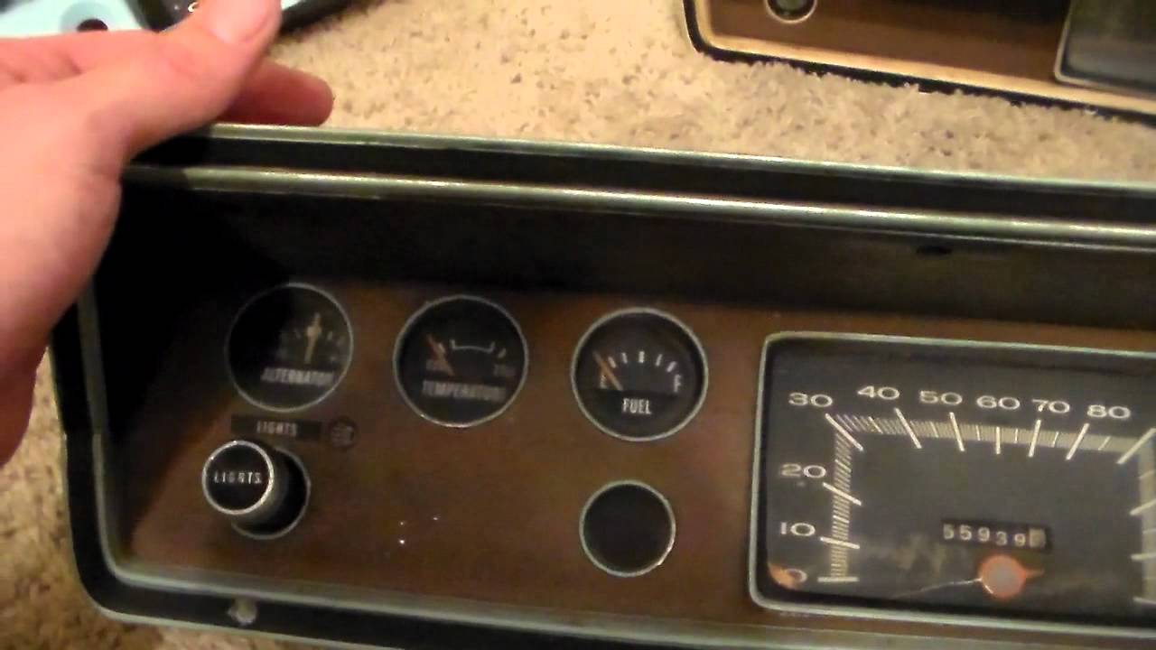 1973 dodge dart quick instrument cluster rehab part 1