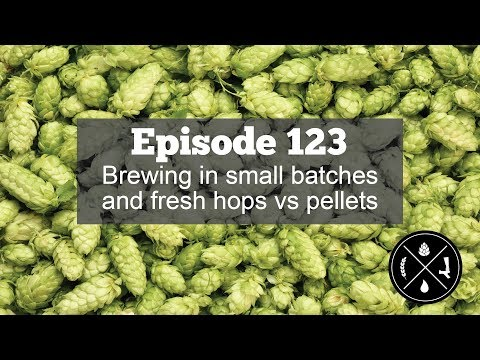 Brewing in small batches and fresh hops vs pellets — Ep  123